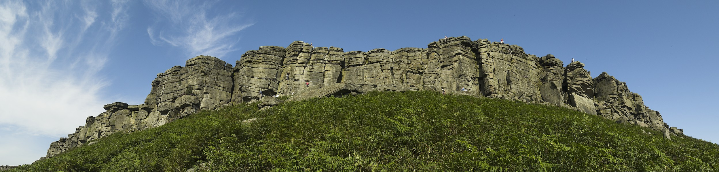 Moja panorama Stanage Edge (park Peak District w Anglii)
